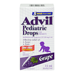 Advil Pediatric Drops for Infants Ibuprofen 200 Mg/ 5mL Oral Suspension Usp Grape 15mL