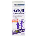 Advil Pour Enfants Suspension Orale de 200 Mg/5mL D'Ibuprofène USP Raisin