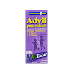 Advil Pour Enfants Suspension Orale de 100 Mg/5mL D'Ibuprofène Usp Raisin 100mL