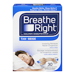Breathe Right Nasal Strips Tan 30 Small/Medium Tan Strips