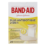 BAND-AID plus Antibiotique 20 Pansements