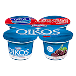 Danone Oikos Greek Yogurt 0% Cherry on the Bottom 4 x 100 g
