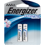 Energizer Ultimate Lithium AAA2 Lithium Batteries 2 Batteries