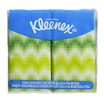 Kleenex Pocket 3-Ply Tissues White 8 Packs x 10 Tissues