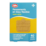 Life Brand Pansements en Tissu Flexible 40 Pansements