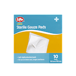 Life Brand Large Sterile Gauze Pads 10 Pads