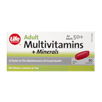 Life Brand Adult Multivitamins and Minerals for Adults 50+ Caplets