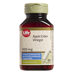 Life Brand Apple Cider Vinegar 500mg Capsules