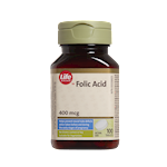 Life Brand Folic Acid 400mcg Tablets
