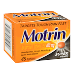 Motrin Ibuprofen Tablets Super Strength 400mg x 45 Tablets