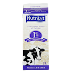 Nutrilait 1% Partly Skimmed Milk 2L