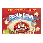 Orville Redenbacher Pop up Bowl Gourmet Popping Corn Extra Buttery 3 x 82g