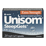 Paladin Unisom Sleepgels Ultra Fort Chlorhydrate de Diphénhydramine 50mg x 20 Capsules