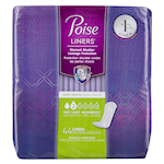 Poise Liners Discreet Bladder Leakage Protection Long Length 2 Very Light Absorbency 44 Liners