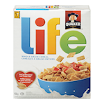 Quaker Life Whole Grain Cereal 450g