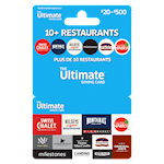 Ultimate Dining Card $20-$500