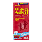 Advil Pour Enfants Suspension Orale de 100 Mg/5mL D'Ibuprofène Usp Framboise Bleue 100mL