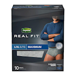 Depend Real Fit Incontinence Underwear for Men, Maximum Absorbency, L/XL, 10 count