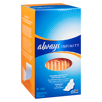 Always Infinity Overnight Flexi-Wings Pads 28 Pads
