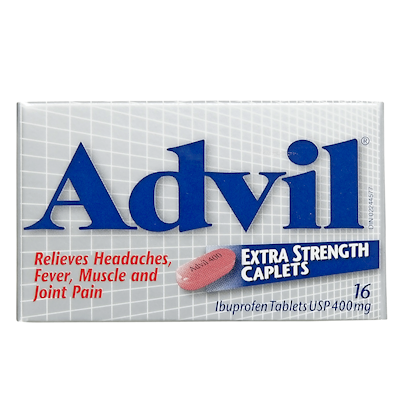 Advil Extra Strength Caplets Ibuprofen Tablets Usp 400 mg 16