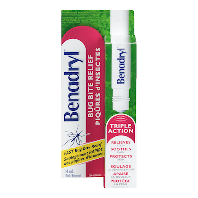 Benadryl Itch Bug Bite Relief Stick Triple Action 14mL