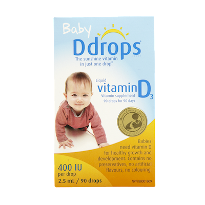 D Drops Baby Liquid Vitamin D3 Vitamin Supplement 90 Drops Shoppers Drug Mart