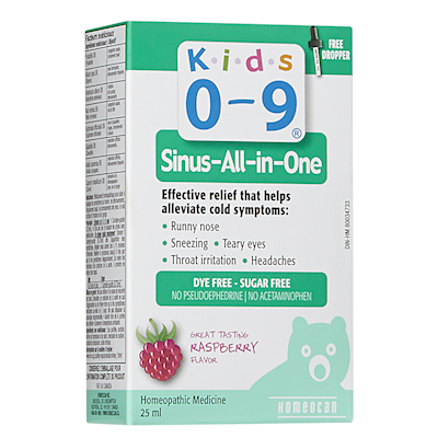 Homeocan Kids 0-9 Sinus-All-In-One Homeopathic Medicine