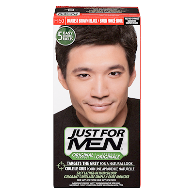 Just for Men Shampoo-In Hair Colour Real Darkest Brown-Black H-50 ...