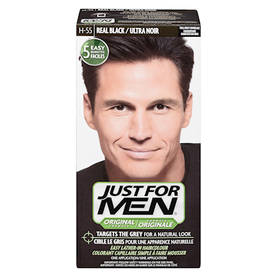 Just for Men Shampoo-In Hair Colour Real Black H-55 | Personal ...