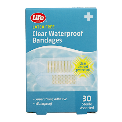 Life Brand Clear Waterproof Bandages 30 Bandages | First Aid