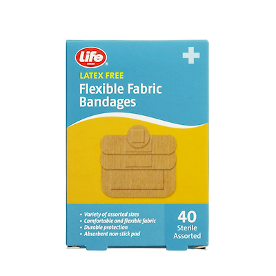 Life Brand Flexible Fabric Bandages 40 Bandages | First Aid