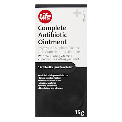 Life Brand Complete Antibiotic Ointment 15g | First Aid