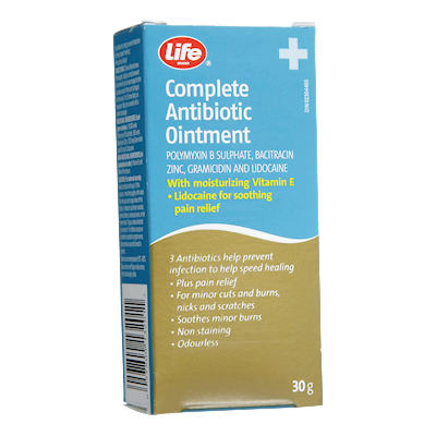 Life Brand Complete Antibiotic Ointment 30g   First Aid