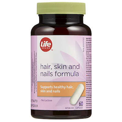 Life Brand Hair Skin And Nails Formula Capsules Specialty