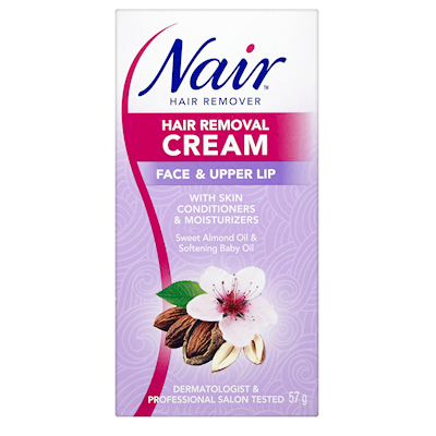 Nair Moisturizing Hair Removal Cream Face Upper Lip 57g