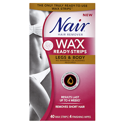 Nair Hair Remover Wax Ready Strips Legs Body 40 Wax Strips 4 Finishing Wipes Shoppers Drug Mart