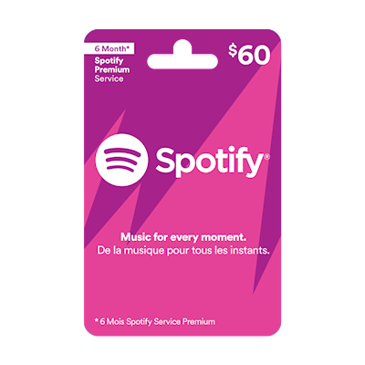 Spotify $60 | Entertainment | Gift Cards | Shoppers Drug Mart®