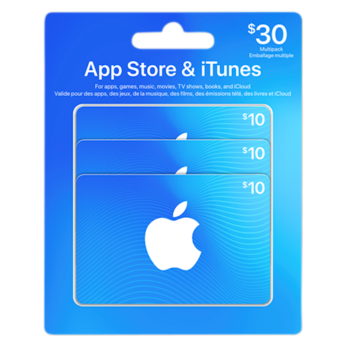 App Store & iTunes 30 $ emballage multiple