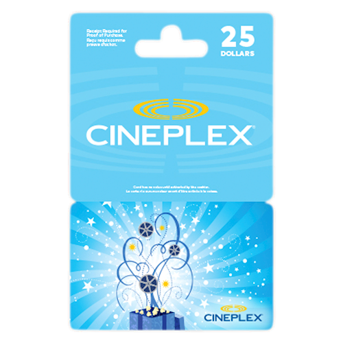 Cineplex Celebration $25
