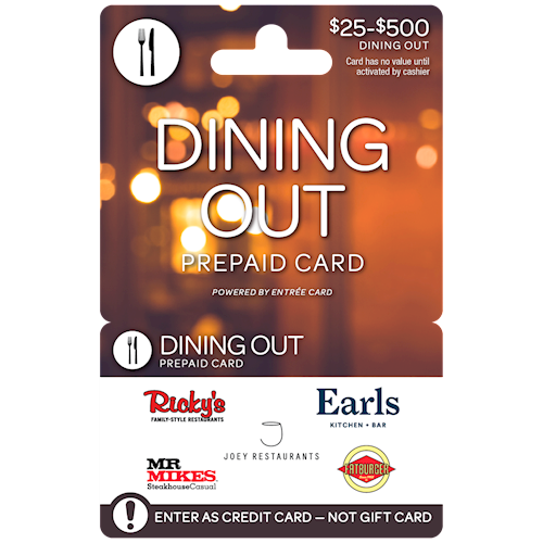 Dining Out West $25-$500