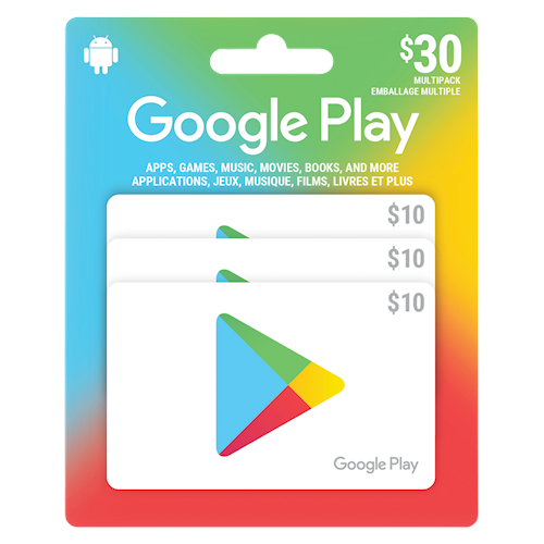 Google Play emballage multiple 30 $
