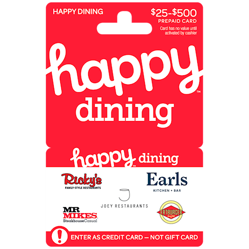 Happy Dining West 25$-500$
