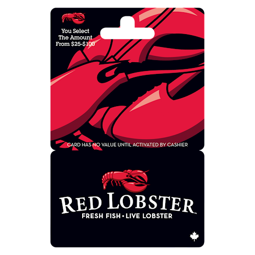 Red Lobster $25-$100
