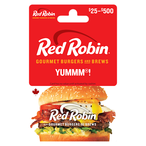 Red Robin $25-$500