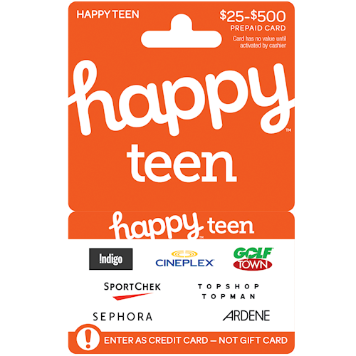 Happy Teen $25-$500