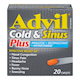 Advil Cold & Sinus plus Analgesic Decongestant +Antihistamine 20 Caplets