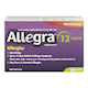 Allegra 12 Hour Allergies and Nasal Congestion Non-Drowsy 24 Tablets