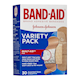 BAND-AID Variety Pack Quilt-Aid Pad Bandages 30 Bandages