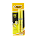 BIC Brite Liner Soft Grip Highlighter Yellow 2 Highlighters