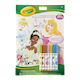 Crayola Disney Princess 32 Page Colouring and Activity Pad and 7 Mini Washable Markers